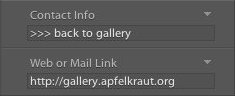 Lightroom Contact Info